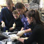 На мастер-класс в реставрационную мастерскую приехали ребята из группы коррекции 8-го вида
